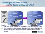 challenges to data access on the same or shared lpar1