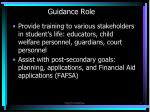 guidance role1