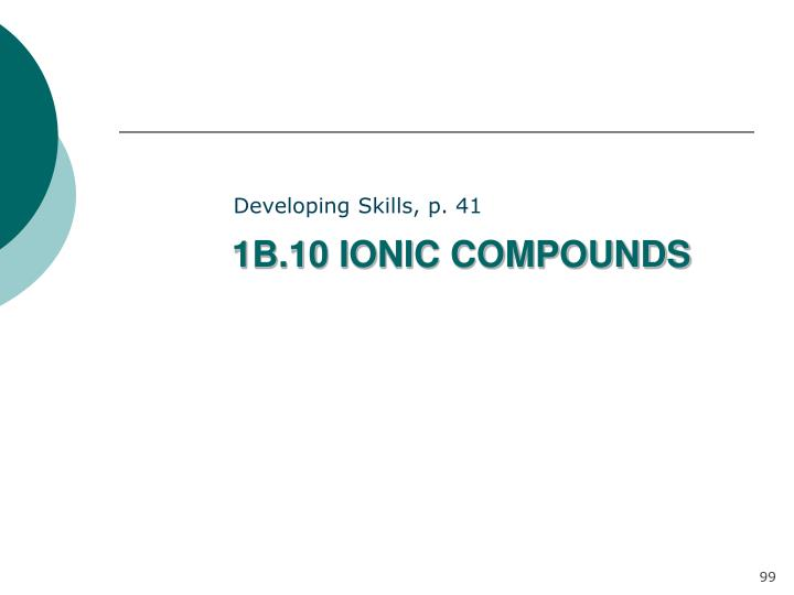 1B.10 IONIC COMPOUNDS