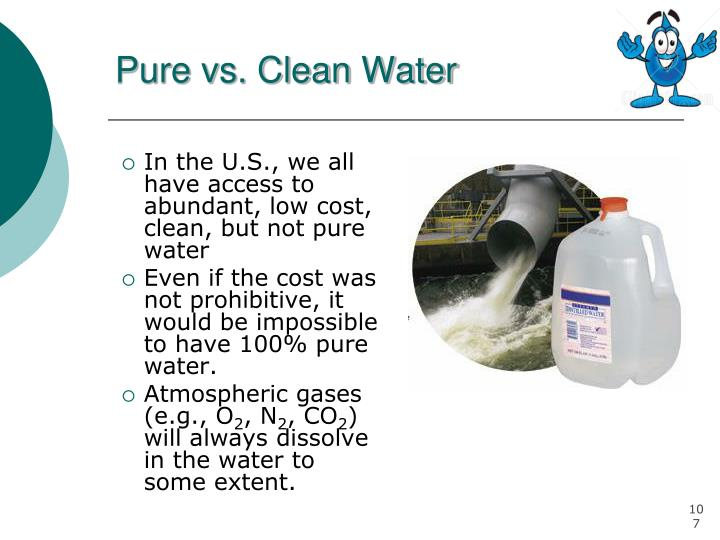 Pure vs. Clean Water