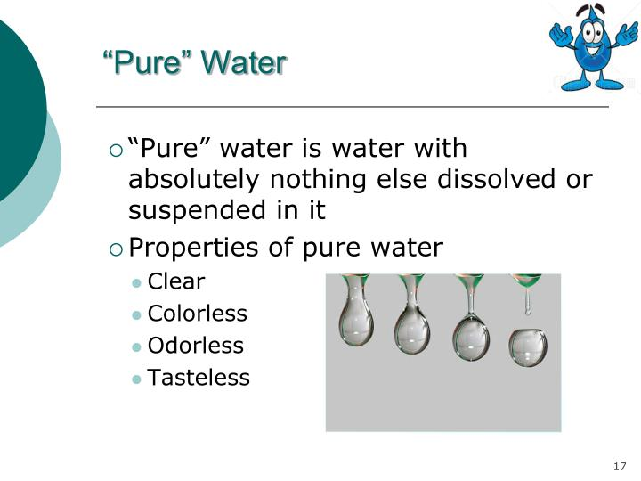 """""""Pure"""" Water"""