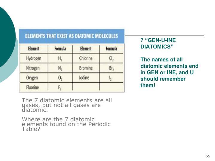 "7 ""GEN-U-INE DIATOMICS"""