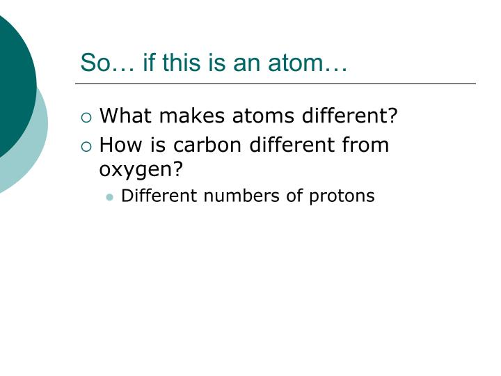 So… if this is an atom…