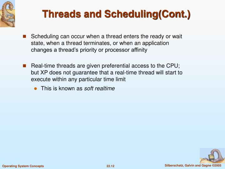 Threads and Scheduling(Cont.)