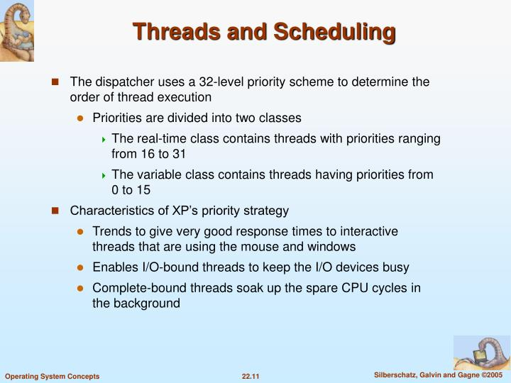 Threads and Scheduling