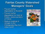 fairfax county watershed managers goals