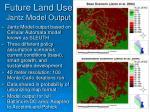 future land use jantz model output