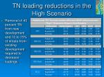 tn loading reductions in the high scenario