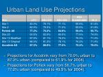 urban land use projections
