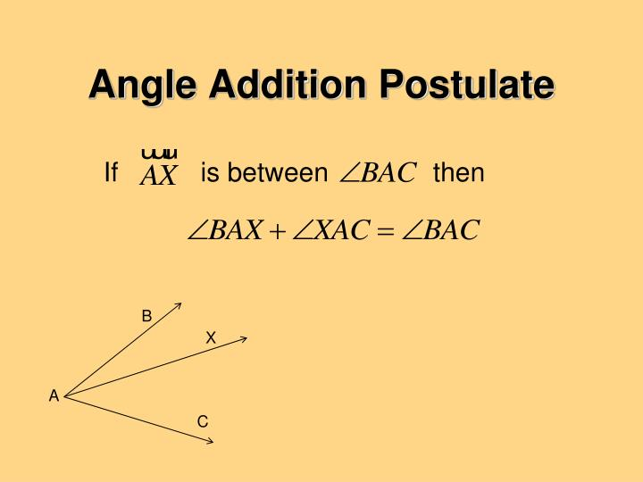 Angle Addition Postulate