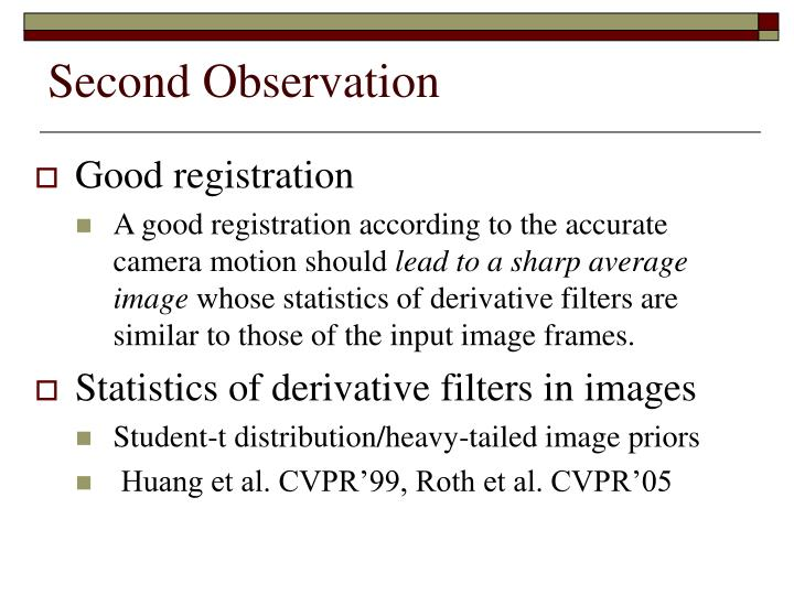 Second Observation