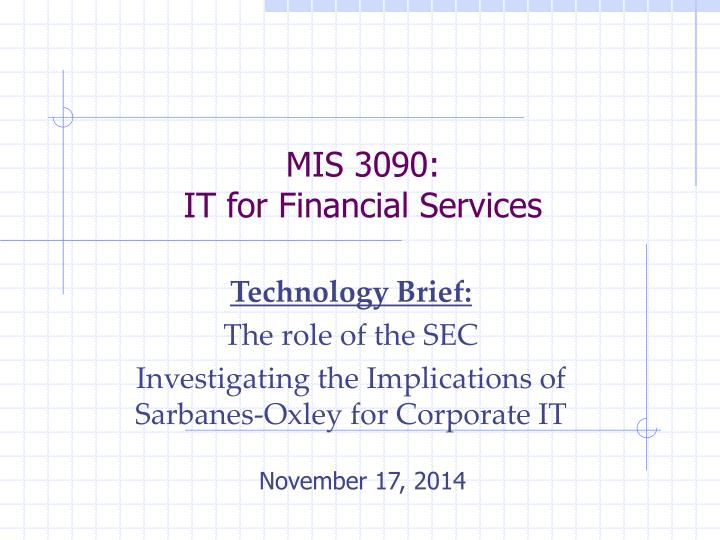 mis 3090 it for financial services n.