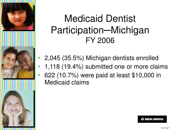 Medicaid Dentist Participation