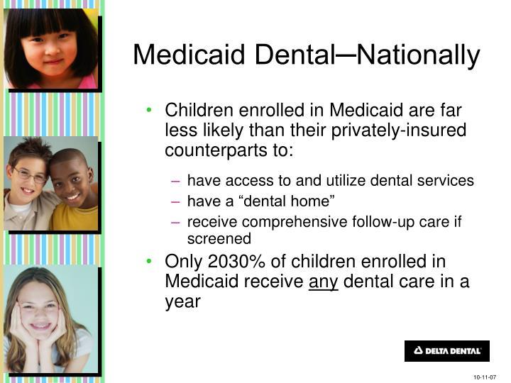 Medicaid Dental─Nationally