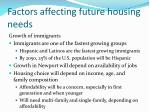 factors affecting future housing needs2