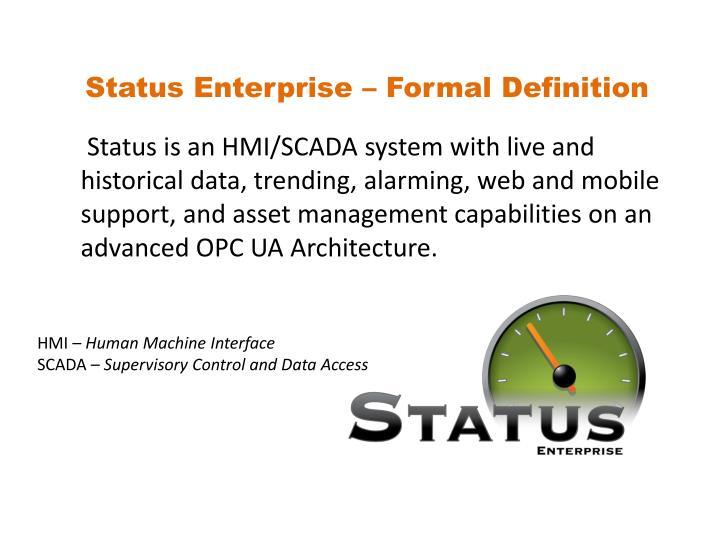 Status Enterprise – Formal Definition