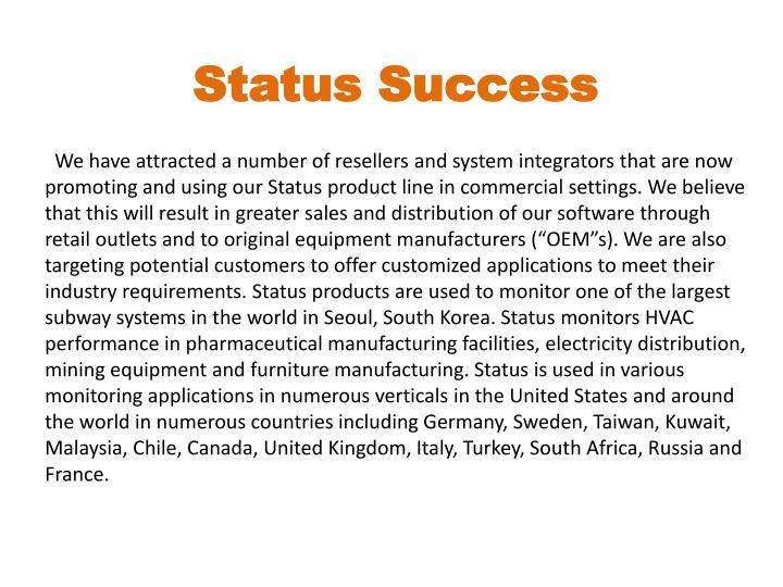 Status Success