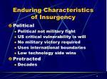enduring characteristics of insurgency