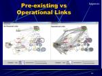 pre existing vs operational links