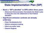 state implementation plan sip