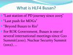 what is hlf4 busan