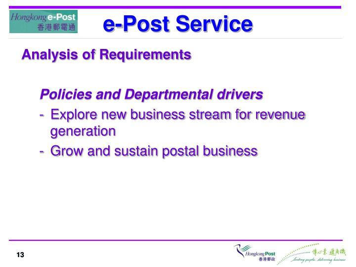 e-Post Service
