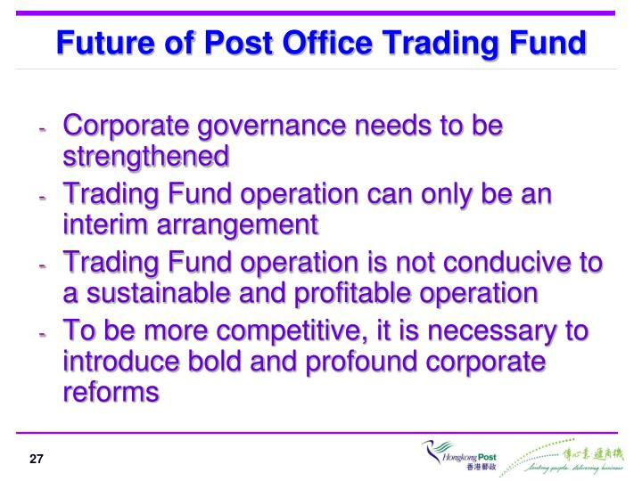 Future of Post Office Trading Fund