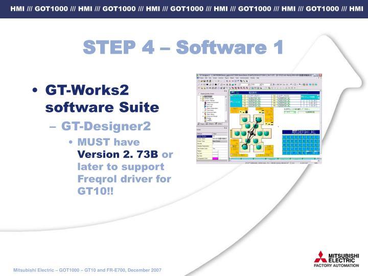 STEP 4 – Software 1