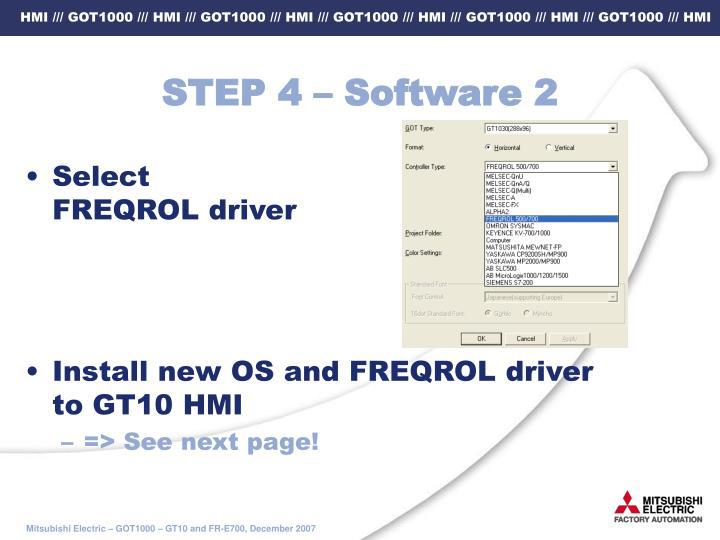 STEP 4 – Software 2
