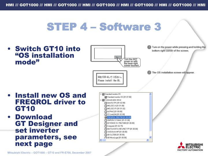 STEP 4 – Software 3