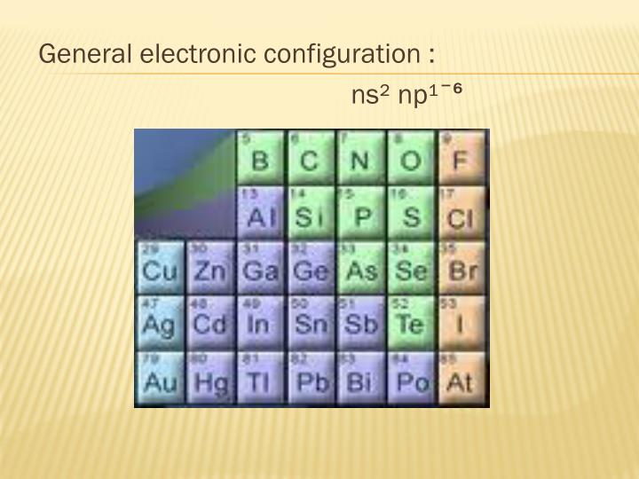 General electronic configuration :
