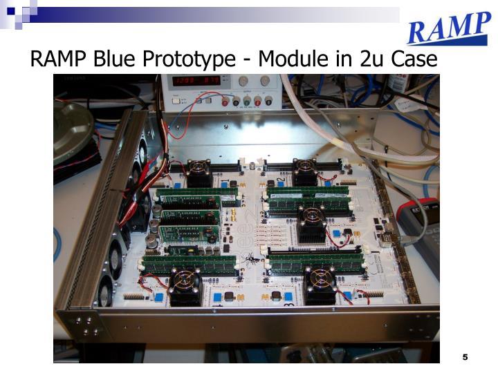 RAMP Blue Prototype - Module in 2u Case