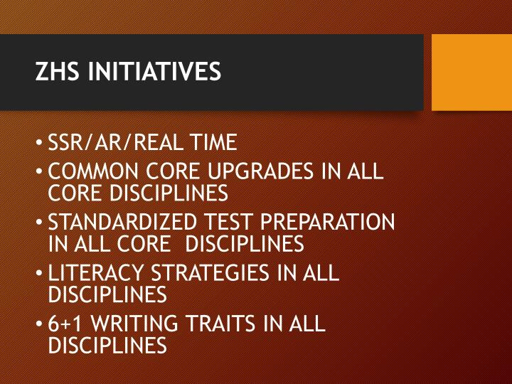 ZHS INITIATIVES