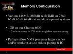 memory configuration