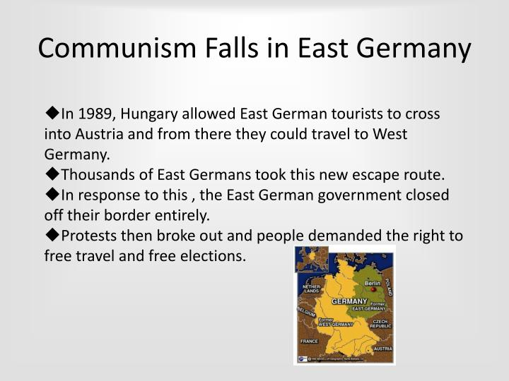 Communism Falls in East Germany