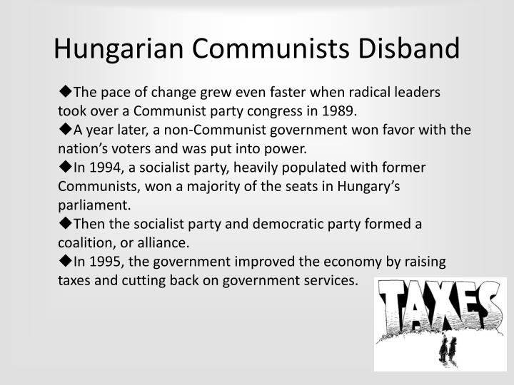 Hungarian Communists Disband