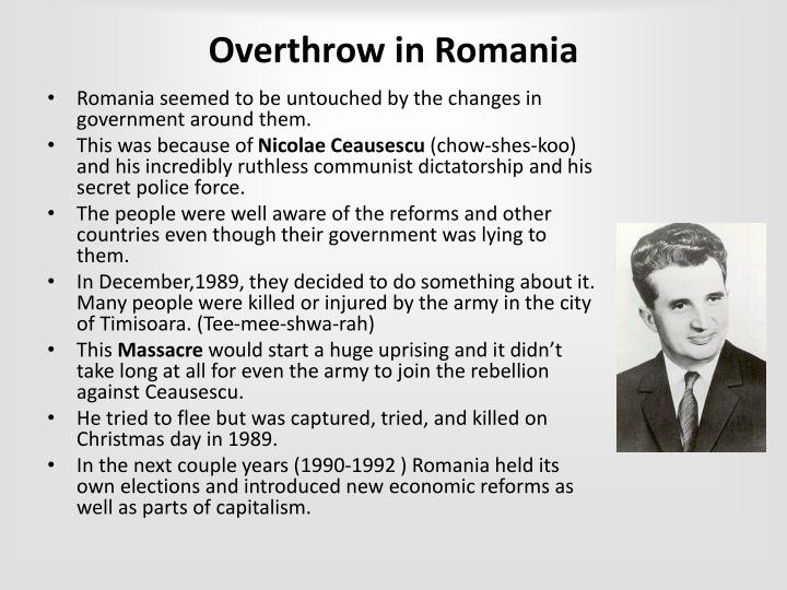 Overthrow in Romania