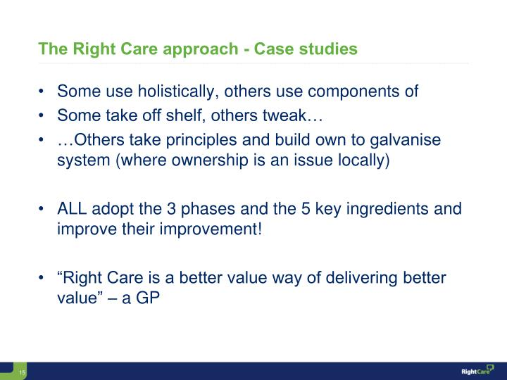 The Right Care approach - Case studies