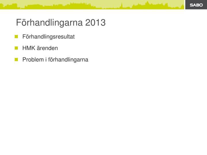 F rhandlingarna 2013