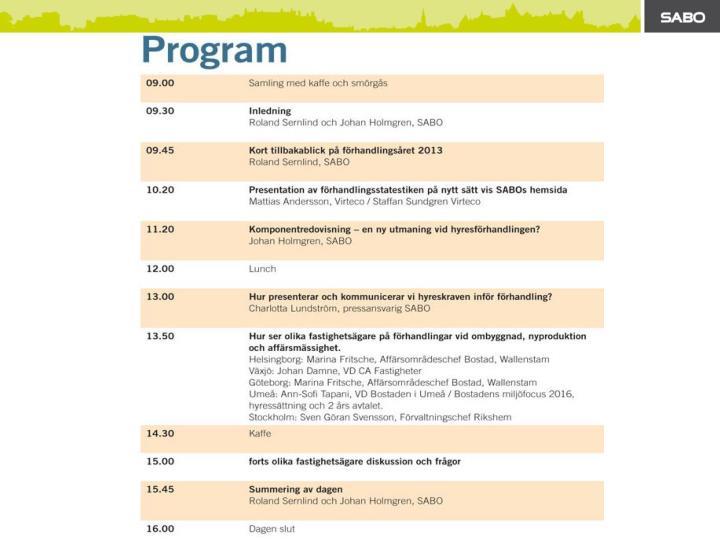 Hyreskonferens 2014