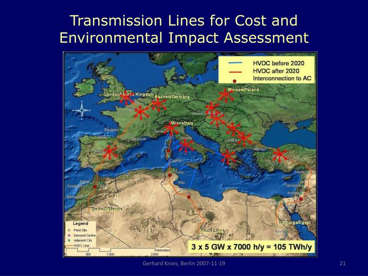 Transmission Lines for Cost and Environmental Impact Assessment
