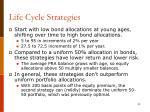life cycle strategies