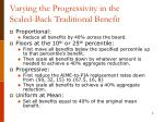 varying the progressivity in the scaled back traditional benefit