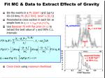 fit mc data to extract effects of gravity