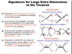 signatures for large extra dimensions at the tevatron