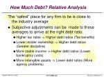 how much debt relative analysis