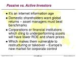 passive vs active investors