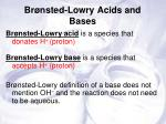 br nsted lowry acids and bases