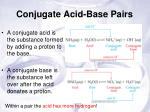 conjugate acid base pairs