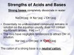 strengths of acids and bases1